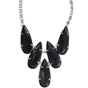 {Kendra Scott} Black Onyx Jasmine Bib Necklace